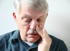 Man with stuffy nose Stock Photos
