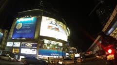 Bangkok night traffic timelapse Stock Footage