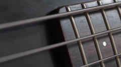 Stock Video Footage of Strings on electric bass guitar