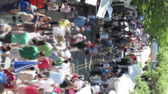 Art fair goers - stock footage
