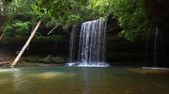 Upper Caney Creek Falls Stock Footage