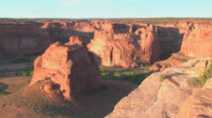 Stock Video Footage of Arizona Canon de Chelly Junction Overlook