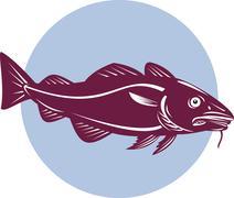 Stock Illustration of atlantic codfish retro.