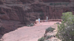 Arizona Canyon de Chelly Antelope Overlook zoom Stock Footage