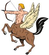 centaur bow arrow shooting - stock illustration
