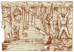dungeon room - stock illustration