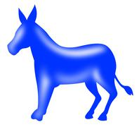 Democrat donkey mascot. Stock Illustration