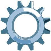Cog mechanical gear. Stock Illustration