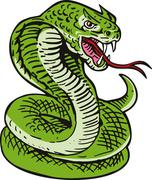 cobra viper snake. - stock illustration