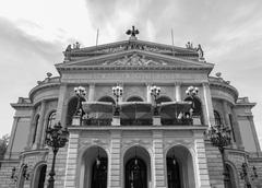 alte oper in frankfurt - stock photo