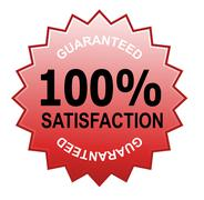 Stock Illustration of 100% satisfaction guaranteed red.