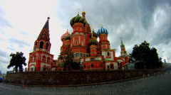 Cloudy Moscow kremlin time lapse Stock Footage