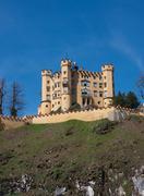 hohenschwangau castle - stock photo