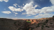 Stock Video Footage of Arizona canyon de Chelly Tunnel overlook time lapse