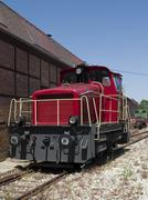 diesel fueled freight locomotive - stock photo