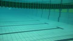 Sportswomen touch border and make u-turn underwater Stock Footage