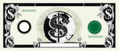dollar bill - stock illustration