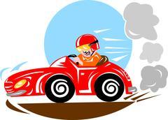 Race car driver Stock Illustration