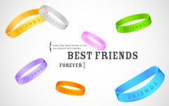 Happy Friendship Day Greetings - stock illustration