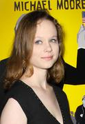 "Thora birch.""capitalism: a love story"" los angeles premiere.held at the acade Stock Photos"