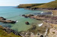 Stock Photo of New Polzeath Cornwall coast England