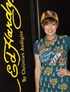 Stock Photo of caroline hennessy visits the ed hardy outlet