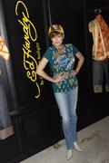 Caroline hennessy visits the ed hardy outlet Stock Photos
