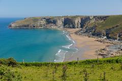 Trebarwith beach Cornwall England UK Stock Photos