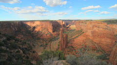 Arizona Canon de Chelly Spider Rock overlook - stock footage