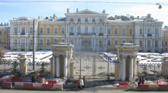Beautiful front view of the Vorontsovsky Palace Stock Footage