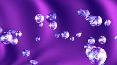 Abstract flight of diamonds. - stock footage