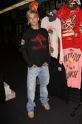 Stock Photo of dancing with the stars aaron carter.celebrities visits the ed hardy outlets.h