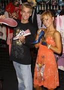 celebrities visits the ed hardy outlets - stock photo