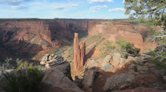 Stock Video Footage of Arizona Canon de Chelly Spider Rock overlook