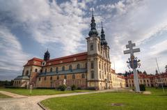 velehrad - the basilica of assumption of mary and st cyrillus and methodius - stock photo
