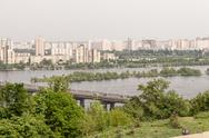 Stock Photo of Kiev cityscape and Dnieper river, Ukraine