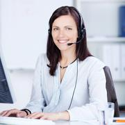 Pretty call center operator Stock Photos
