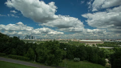 Moscow city panoramic aerial timelapse, RAW VIDEO: 4K & 1080p resolutions Stock Footage