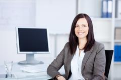 Businesswoman in suit Stock Photos