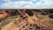 Stock Video Footage of Arizona Canyon de Chelly White House overlook