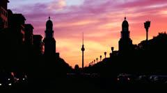 Berlin Silhouette - stock footage