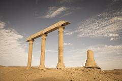 Ancient Ruins at the desert, Egypt Stock Photos