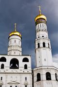 Ivan the great bell tower and assumption belfry Stock Photos