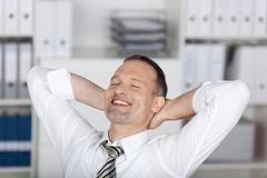 relaxed businessman - stock photo
