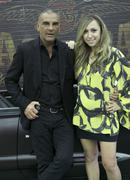 chrisyian audigier and host diana madison.hollyscoop meets ed hardy designer, - stock photo