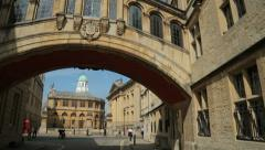 Bridge of sighs oxford, england Stock Footage