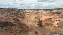 Arizona view Canyon de Muerte Mummy Cave Stock Footage
