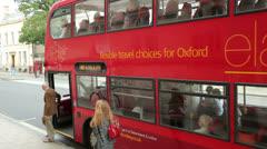 Bus oxford England Stock Footage