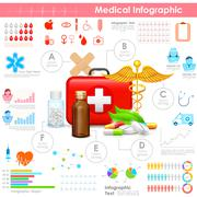Healthcare and Medical Infographic Stock Illustration