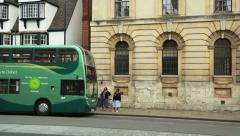 Park and ride bus oxford Stock Footage